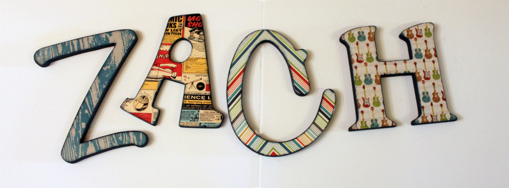 Decoupage Wooden Letters Decoupaged Wood Letters